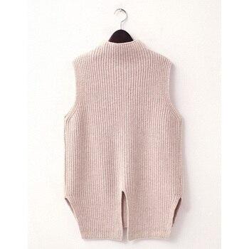 Fashion Hot Women High Neck Knit Vest Wo...