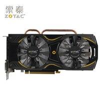Оригинал ZOTAC видеокарта GeForce GTX950 2GD5 Thunderbolt HA 128Bit GDDR5 Графика карты для nVIDIA GTX 900 950 2 г 6610 мГц 2 ГБ