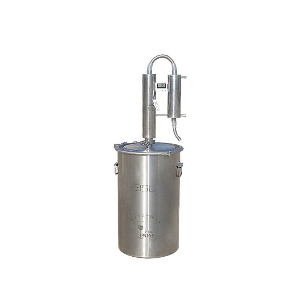 ステンレス鋼 35L 密造酒蒸留器アルコールホームワイン蒸留機ウォッカウイスキーブランデー蒸留器  グループ上の ホーム&ガーデン からの ワイン作り の中 1