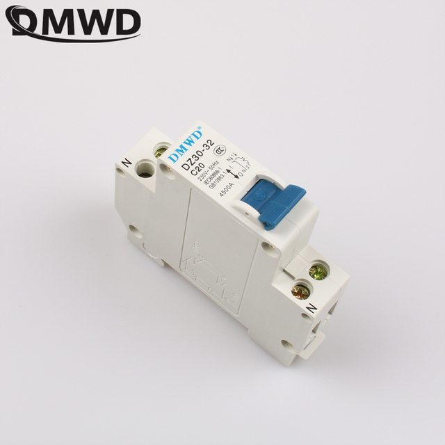 US $0 98 10% OFF DMWD DPN DZ30 32 1P+N 20A 240V~ 50HZ/60HZ Residual Current  Circuit Breaker RCCB DZ30 BREAKER 220V-in Circuit Breakers from Home