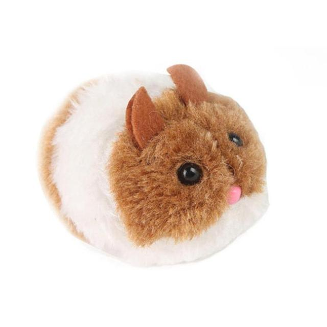 pull line vibrate little fat rat simulated plush cat toy vibration