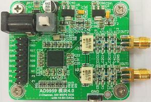 O sinal de alta velocidade dds 200 m do módulo ad9959 gera a saída do transformador do rf.