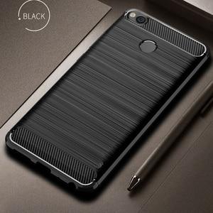 Image 1 - For Xiaomi Redmi 4X Case Bumper Anti knock Soft TPU Silicon Cover Carbon Fiber Armor Case Cover For Xiaomi Redmi 4X Pro