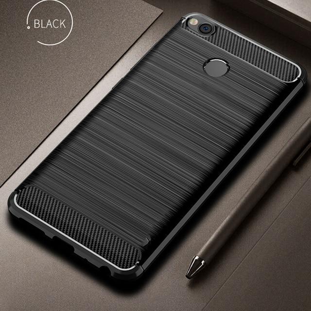 For Xiaomi Redmi 4X Case Bumper Anti knock Soft TPU Silicon Cover Carbon Fiber Armor Case Cover For Xiaomi Redmi 4X Pro