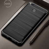 Xiaomi Redmi 4X Case Bumper Anti-knock Soft TPU Silicon Cover Carbon Fiber Armor Case Cover For Xiaomi Redmi 4X Pro