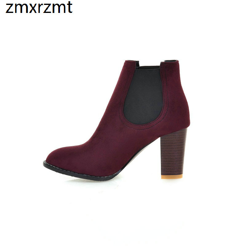 2019 women sweet ankle women boots spring autumn women shoes 8cm high heel casual party shes it`s black red blue and green 2019 spring autumn sweet knee high 9cm super high heel women boots thin women shoes party shoes it s green apricot and red
