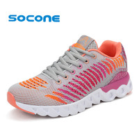 Socone Summer New Women Running Shoes 2016 Female Outdoor Walking Shoes Athletic Sport Sneakers Breathable Mesh