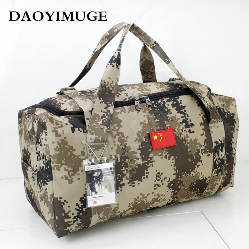Military camouflage luggage bag bags of Oxford cloth handbag large capacity camouflage bag camouflage detail bum bag