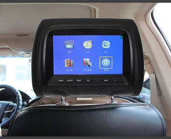 Universal 7 inch TFT LED screen Car MP5 player Headrest monitor Support AV/USB/SD input/FM/Speaker/Car camera