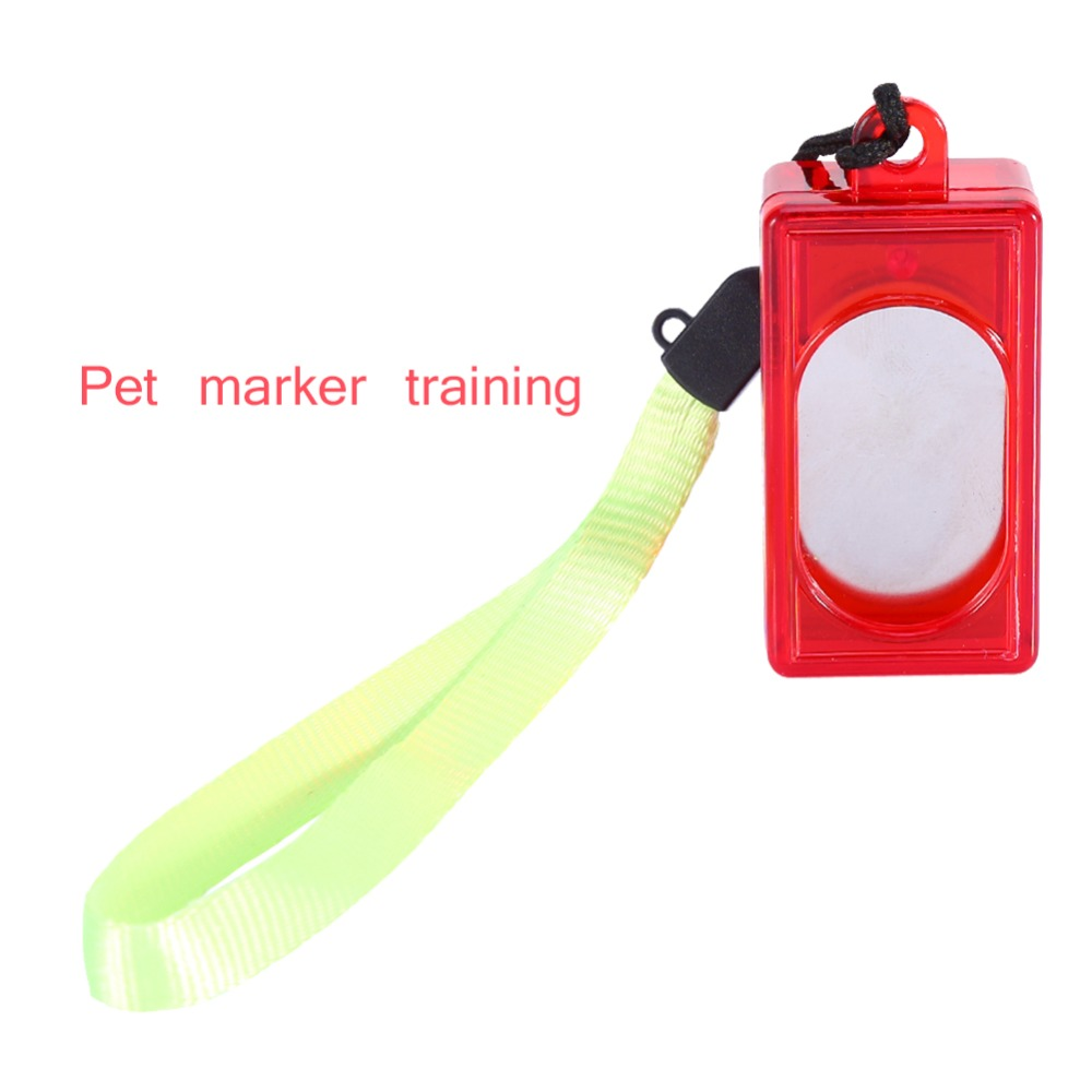 Eerlijkheid Pet Hond Marker Training Clicker Klik Button Gehoorzaamheid Puppy Cat Knop Trainer Hulp Wrist Hond Clicker Levert