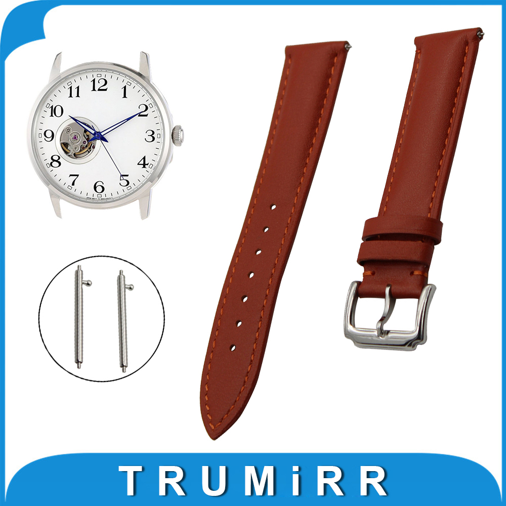 18mm 20mm 22mm First Layer Genuine Leather Watch Band Quick Release Strap for Orient Wrist Belt Bracelet Black Brown стоимость