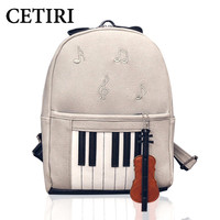 Fashion Piano Musical Violin Printing Backpack Casual Music Backpacks For Teenage Girls NEW Travel Students Cool