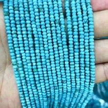 Натуральный Магнезит бирюза e fcacetedtiny spacer bead 2x3 мм