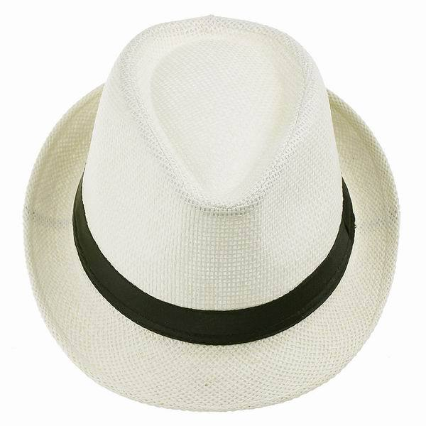c00dba9755d 2015 Hot Sale 6 Colors Cool Straw Hats Women Men Fedora Hat Trilby Gangster  Cap Summer Travel Fashion Sun Caps Beach Panama Hat-in Fedoras from Apparel  ...