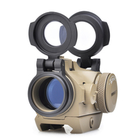 SEIGNEER Tactical Magnification 1x 2MOA T2 Red Dot Sight Compact Red Dot Scope With Low Mount Riser Mount 45 degree Offset Mount