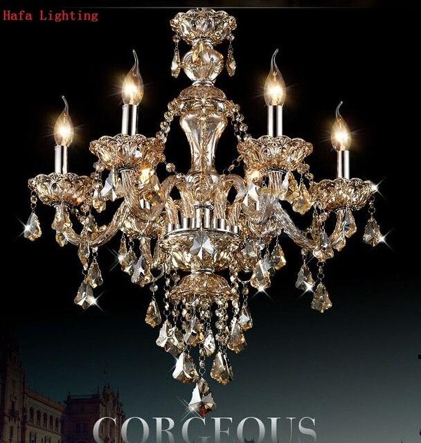 Free shipping k9 modern lustre crystal chandeliers 4 6 8 15 arm chandelier