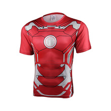Superman Avenger Union T-shirt Tee 3D Printed Mens 2017 New short-sleeved fitness Raglan sleeve Fitness Compression Top Male