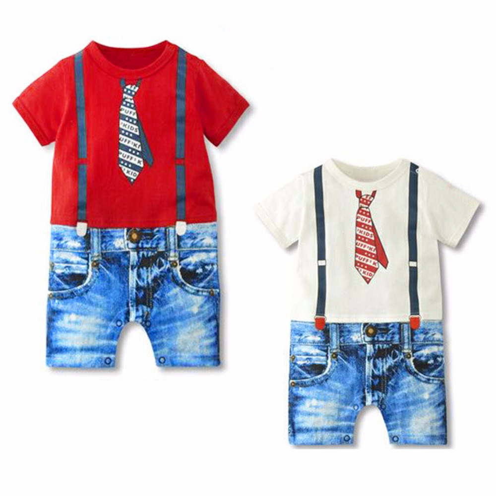 2019 Baby Boy Rompers Summer Baby Boy Clothing Sets Newborn Baby Clothes Gentleman Boy Clothing Roupas Bebes Infant Jumpsuits