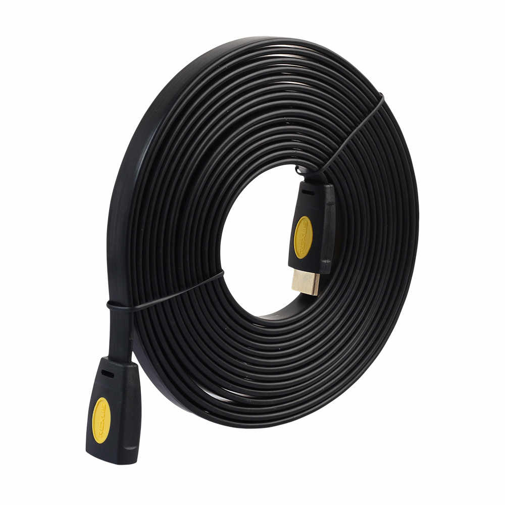 Emas Plated 4 K 3D HDMI Ekstensi Kabel 0.5/1/1.8/3/5 Meter Extender Pria untuk Wanita LCD TV HD 1080 P