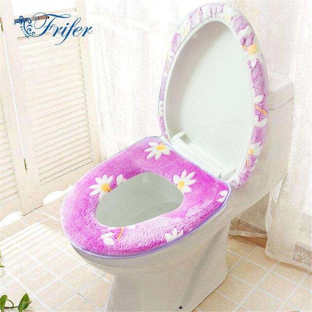 1 Pz/2 Set Bagno di Fiori di Stampa del Panno Morbido Warmer Igienici Set Cernie