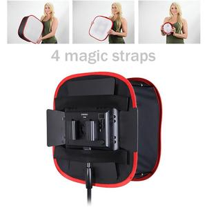 Image 2 - Portable Collapsible Softbox 4*4*2cm for Yongnuo YN600 YN900 LED Light Panel Portable Lighting Modifier for Photo Studio Softbox