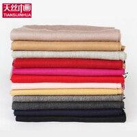 2017 Luxury Brand 100 Lamb Wool Scarf Women Wool Pashmina Bandana Winter Solid Women Cashmere Wool