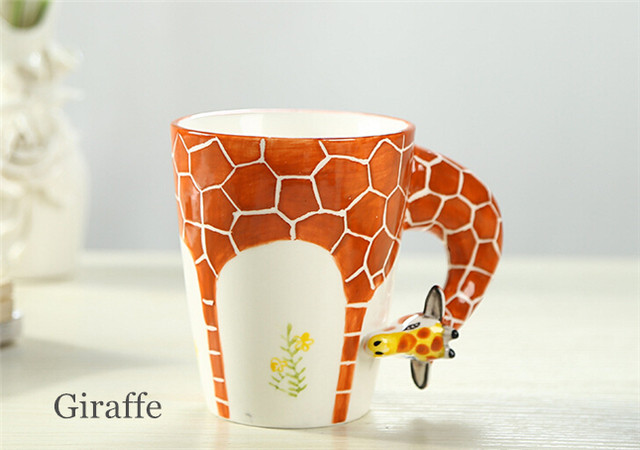 Online Shop Cartoon Ceramic Milk Tea 3D Animal Shape Drinking Coffee ...