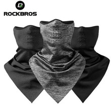 ROCKBROS Winter Warm Fleece Thermal Bicycle Cycling Face Mask Windproof Breathable Riding Ski Scarf MTB Bike Accessories