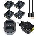 4 unids np-w126 w126 np recargable batería + dual usb cargador para fujifilm finepix hs30exr x-pro1 x-m1 x-e2 x-a1 + adaptador de ca