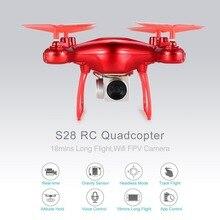 S28, беспилотные летательные аппараты с Wi-Fi, Камера 0,3 МП реальное время для того чтобы передать с видом от первого лица Квадрокоптер HD Камера Дрон 4CH RC вертолет