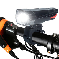 Usb lâmpada da bicicleta à prova dusb água frente bicicleta farol embutido bateria recarregável ciclismo luz com mountain bike taillight