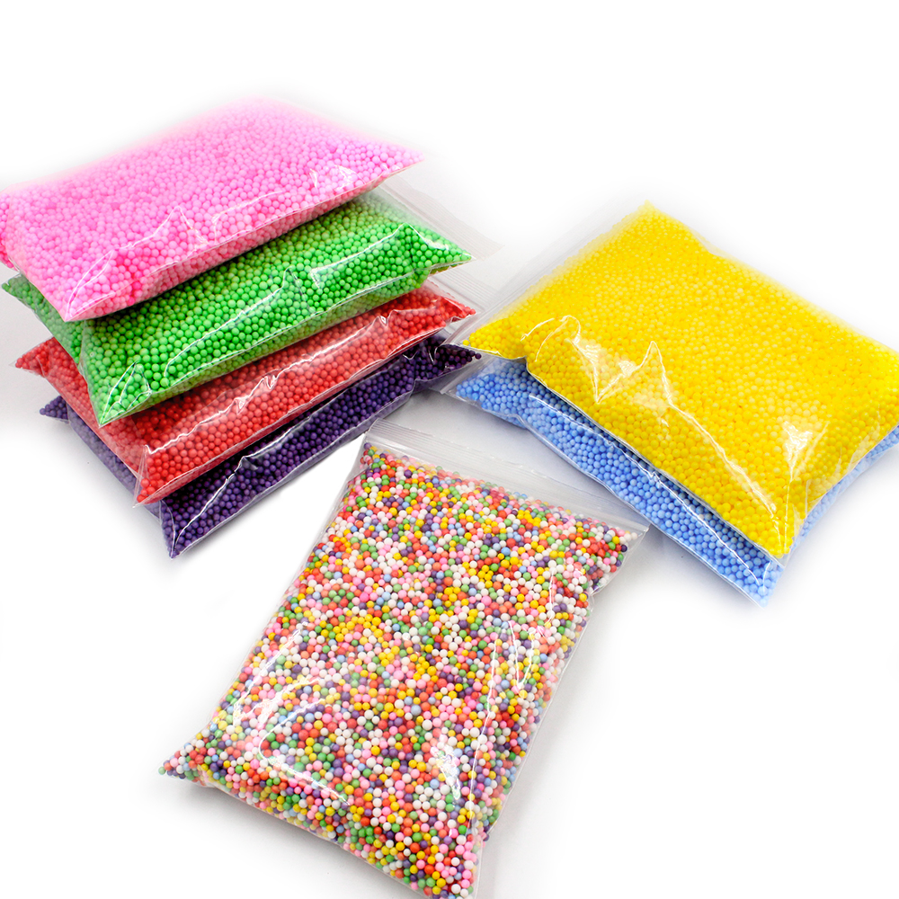 New Addition Foam Beads for Slime Supplies Balls Colorful Charms Filler Particles Slime Accessories Antistress Mud Chunks Toys E in Modeling Clay from Toys Hobbies