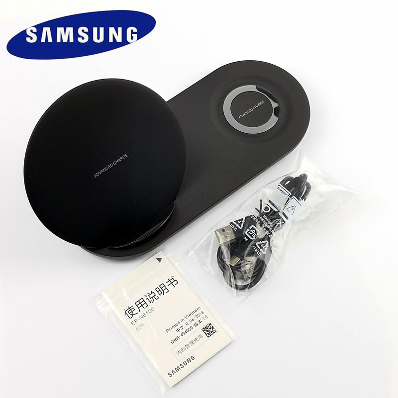 Original 25W Samsung Wireless charger Dual Fast Charge For Galaxy S6 s7 S8 edge s9 s10 Plus Note 9 Gear S3 Sport For apple watch