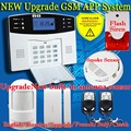 99 Wireless 7 wired GSM SMS Remote control GSM Fire Smoke Sensor Burglar Alarm System Remote Control Home Security Protection