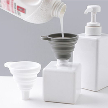 1pcs Mini Practical Funnel Silicone Collapsible Folding Portable Funnels Household Liquid Oils Dispensing Kitchen Tools