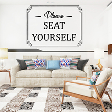 Quote please seat yourself Wall Sticker Removable Decor For conference room Decoration Decal