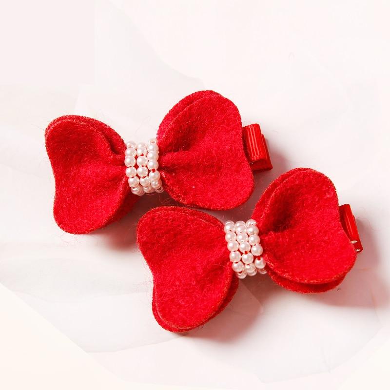 1PCS New Fashion Cute Cartoon Red bows Baby Hairpins Kids Hair Clips Princess Barrette Children Headwear Girls Hair Accessories