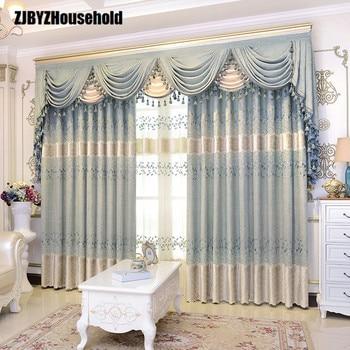 athena pure koreaanse tuin chenille borduurwerk europa stijl luxe gordijnen voor woonkamer moderne gordijn volant slaapkamer