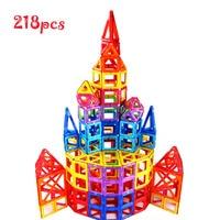 Магнитные игрушки строительный блок 218 шт. Starter вдохновлять, дошкольного творческого 3D Развивающая игра строительство укладки набор навыко