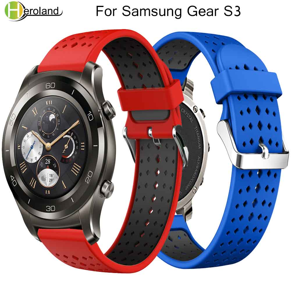 Gear S3 Frontier Strap For <font><b>Samsung</b></font> Galaxy <font><b>watch</b></font> <font><b>46mm</b></font> band Gear S3 Classic <font><b>Smart</b></font> <font><b>watch</b></font> <font><b>bracelet</b></font> 22mm silicone correa 46 wristband image