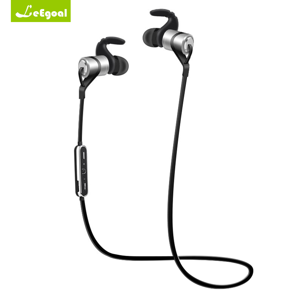 Leegoal D9 Wireless Bluetooth Earphone Sport Earphones Hook Anti-sweat HIFI Headphones Metal Headset with Mic for iPhone Android