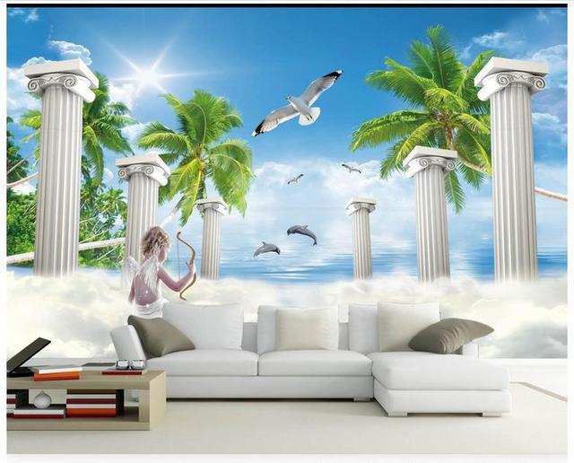 High Quality Hot Sale New Custom 3d photo wallpaper murals Aegean HD