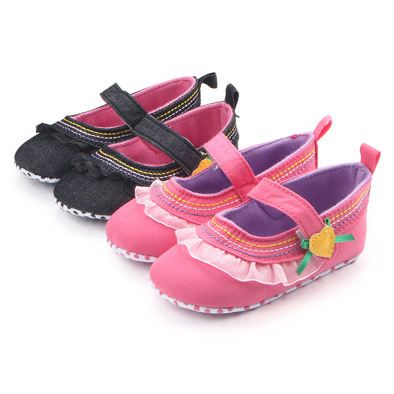 1 pair Vintage Classic First Walkers, Children Baby Kids Girl Floor Shoes Non-Slip Soft Toddler Bed shoes ...