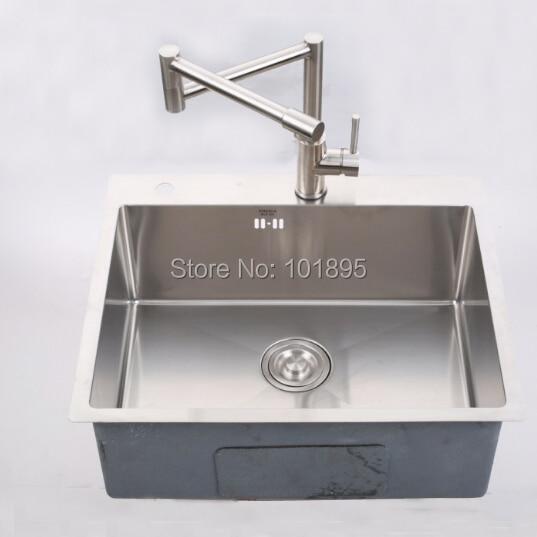 SUS304 cuenco cuadrado de acero 600*500*228 MM fregadero de cocina X26011