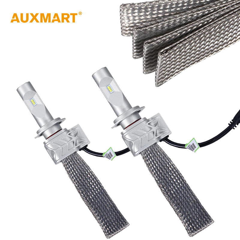 ФОТО Auxmart 72w/pair H7 Cree CSP Chips LED Headlight Bulb Conversion Kit 8000lm IP68 LED Head Lamp Bulb 6500k 12V 24V LED Lamp Bulb