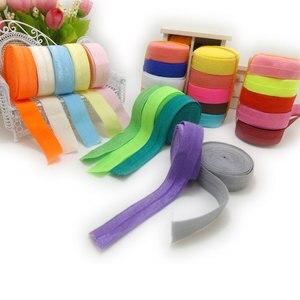 20 м/лот, разноцветное нейлоновое спандекс кружевное полотно, лента для переплетения, эластичная лента для шитья сумок, ширина 1,5 см