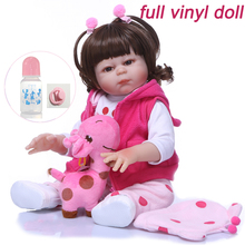 NPK DOLL mini 48cm safe and non-toxic Lifelike hard silicone Reborn Baby kit Doll Bebe Reborn icy LOL Playing diyToys for sale lifelike mask sf 5 silicone skinmask dressing props cd change non toxic factory