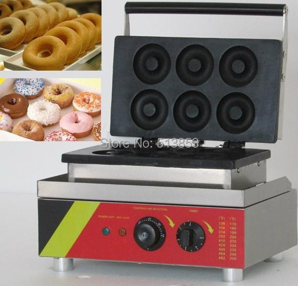 Free Shipping, 6pcs Donut Making Machine, Mini Donuts Maker, Doughnut Maker Machine, CE Certificate commercial manual donut making machine maker for baking 4 mini donuts