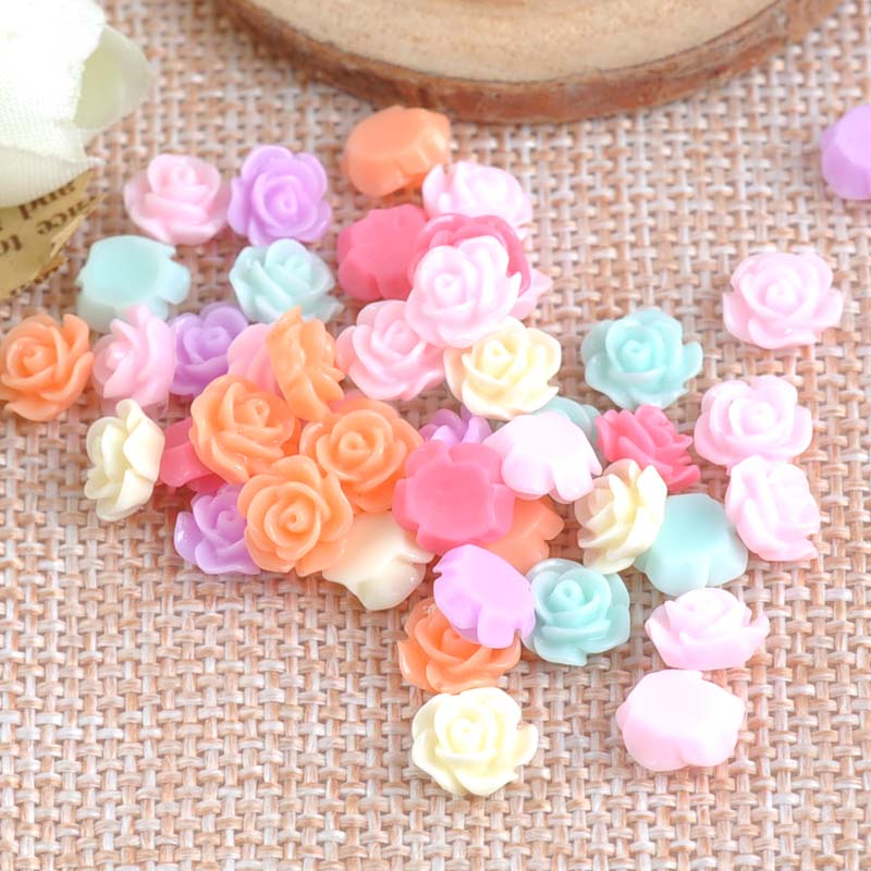 Home & Garden Cheap Price 20pcs Mixed Color Multi-size Resin Rose Flower Stickers Drill Diy Mobile Phone Shell Material Diy Handmade Accessories Fixing Prices According To Quality Of Products