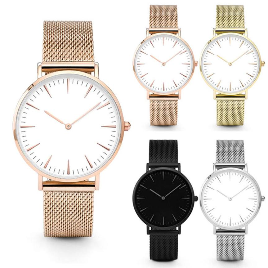 Classic Men Women Lovers Luxury Unisex Business Simple diseño banda - Relojes para mujeres